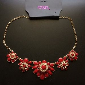 Red Flowered Necklace